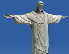 3D asset Realistic Christ Redeemer Statue 3D