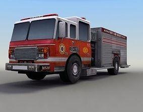 Firetruck 3D asset game-ready