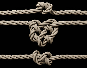 3D rope with knots