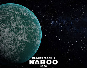 3D model animated Naboo - Star Wars Planets Pack