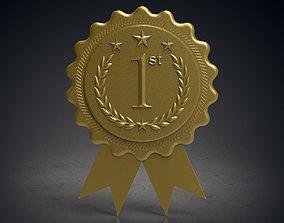 winning 3D printable model Rounded award badge