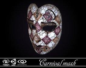VR / AR ready Carnival Mask - game ready model