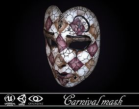 VR / AR ready Carnival Mask - game ready model