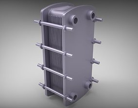 heat exchanger 3D model bathhouse