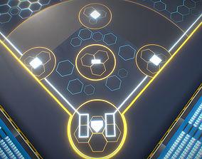 BaseBall Glow Stadium PBR 3D model