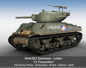 3D M4A3E2 - Sherman Jumbo - Lt Falgayrac m4a3
