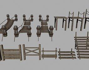 3D asset Wood Set