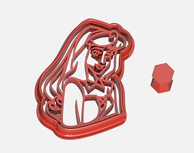 Aurora Princess from Disney Cookie Cutter 3D print model