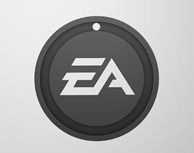 Keychain logo EA 3D printable model