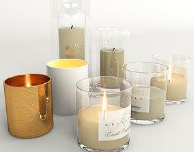 fire Candles 3D model