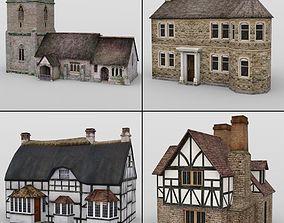 3D Low Polygon Buildings for DAZ Studio