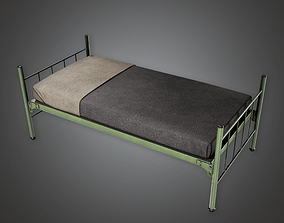 3D model Military Barracks Bed - MLT - PBR Game Ready