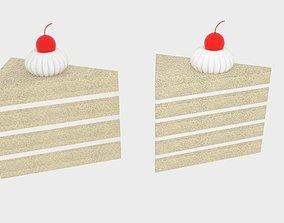 Cherry Cake 3D asset