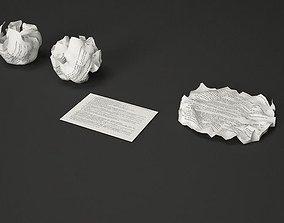 Crumpled Paper 3D model