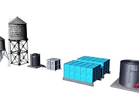 3D model Water tank collection 1