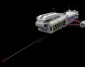 Scifi Passanger Freighter 3D model