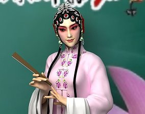 Female Chinese Peking Opera Character 3D model
