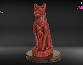 Egyptian Cat Sculpture Timelapse and Model