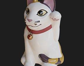 3D model VR / AR ready Maneki Neko The Lucky Cat