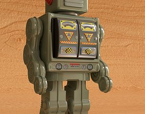 3D Vintage Style Collectible Robot Star Rider