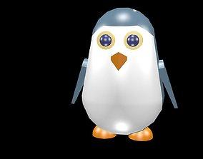 Low poly penguin 3D asset