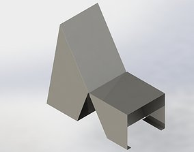 3D printable model Contemporary metal armchair