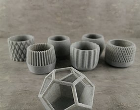 73 Flower pots for succulent plants 3D print model
