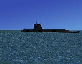 3D model Collins Class HMAS Rankin 78