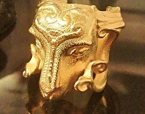 3D printable model Aries Ram Head Ring