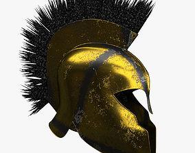 3D asset Achilles Warrior Helmet Realistic