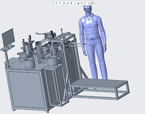 3D print model Button automatic assembly machine