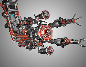 animated Assembly Robot Rigged 3D Model