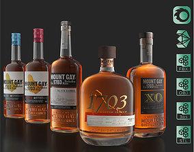 Mount Gay Barbados Rum Pack 3D