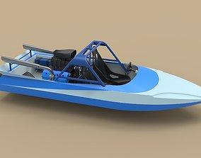 v8 Jet sprint boat 3D model