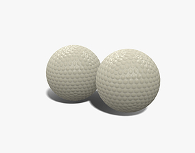 3D model VR / AR ready Golf Ball