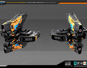 SF Heavy Drone ZR6 3D model VR / AR ready