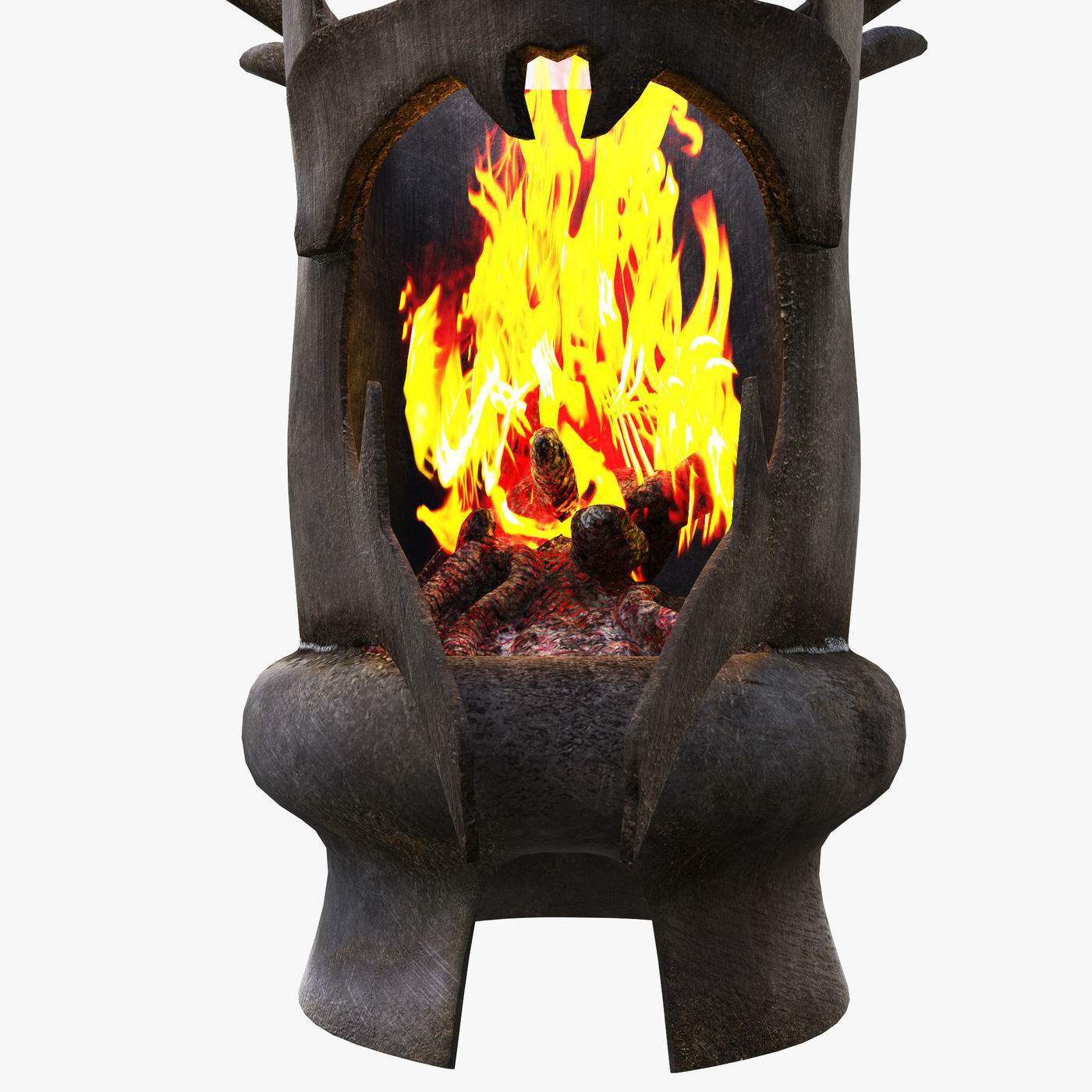Dark knight head fireplace concept