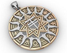 3D print model Slavic horoscope set 16 pieces
