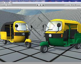 game-ready Indian Auto Rickshaw Tuk Tuk 3D Model