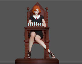 3D printable model QUEENS GAMBIT ANYA TAYLOR JOY CHESS 2
