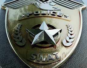 SWAT Police Badge Photorealistic PBR Low-poly game-ready 1
