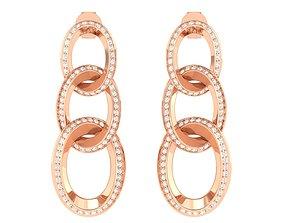 jewel gold Women Earrings 3dm stl render detail