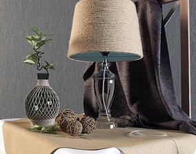 Decorative set with lamp 3D model