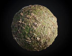 Ground Tree Roots Grass Seamless PBR Texture 3D