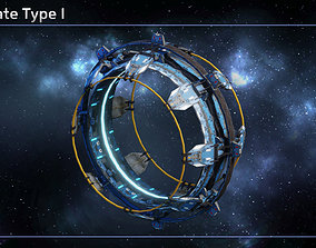 3D asset Spaceship Jumpgate Type I
