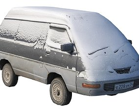Old Toyota Town Ace under the snow 3D asset