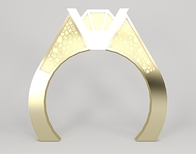 Wedding Salon Entry Big Ring 3D