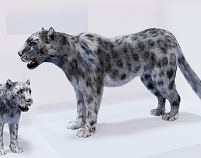 realtime Realistic Fur Leopard 3D Model NO RIG