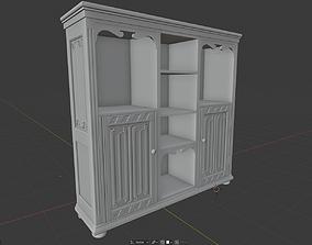 Gothic Bookcase cabinet 3D print model
