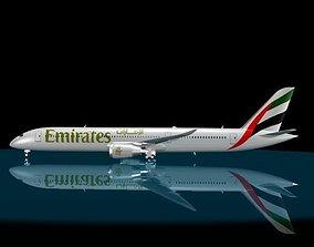 3D Emirates 787 - 9 Dreamliner